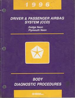1996 Plymouth / Dodge Neon Driver & Passenger Airbag System (CCD) Body Diagnostic Procedures