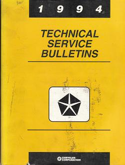 1994 Chrysler Technical Service Bulletins