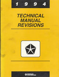 1994 Chrysler Technical Manual Revisions