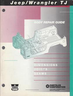 1996 Jeep Wrangler Dimensions, Joints & Seams Body Repair Guide
