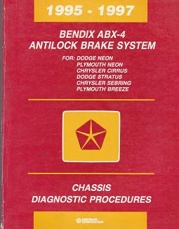 1995-1997 Chrysler Cirrus / Sebring / Dodge Stratus / Neon / Plymouth Neon / Breeze Bendix ABX-4 Antilock Brake Sysytem Chassis Diagnostic Procedures