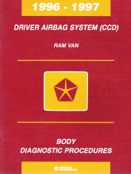 1996 - 1997 Dodge Ram Van Driver Airbag System (CCD) Body Diagnostic Procedures