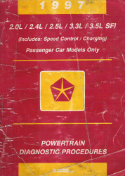 1997 Chrysler, Dodge, Plymouth, and Eagle Passenger Car Factory Powertrain Diagnostic Procedures