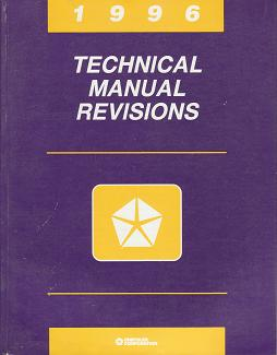 1996 Chrysler / Dodge / Plymouth / Jeep / Eagle Technical Manual Revisions