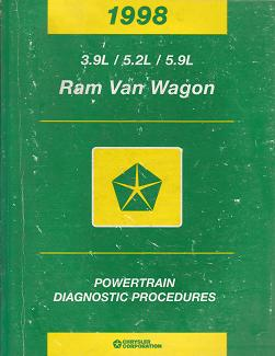 1998 Dodge Ram Van Wagon 3.9L / 5.2L / 5.9L Powertrain Diagnostic Procedures