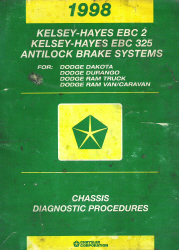 1998 Dodge Kelsey-Hayes EBC 2 and EBC 325 Antilock Brake Systems Factory Chassis Diagnostic Procedures