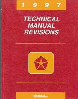 1997 Chrysler Technical Manual Revisions