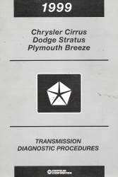 1999 Chrysler Cirrus / Dodge Stratus / Plymouth Breeze Transmission Diagnostic Procedures