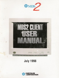 1998 Chrysler MDS2 Client User Manual