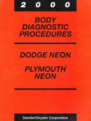 2000 Dodge Neon and Plymouth Neon Factory Body Diagnostic Procedures Manual