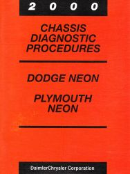 2000 Dodge Neon and Plymouth Neon Factory Chassis Diagnostic Procedures Manual