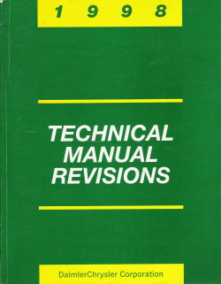 1998 Chrysler Technical Revisions Manual
