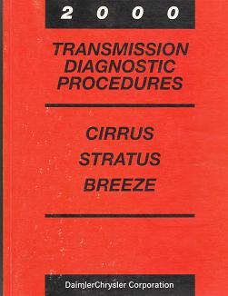 2000 Chrysler Cirrus / Dodge Stratus / Plymouth Breeze Transmission Diagnostic Procedures