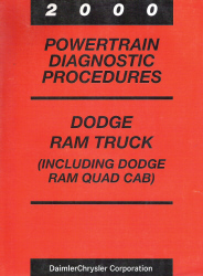 2000 Dodge Ram Truck (Including Quad Cab) Powertrain Diagnostic Procedures