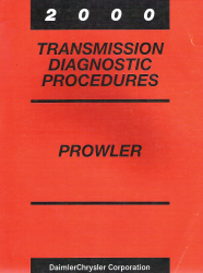 2000 Plymouth Prowler Factory Transmission Diagnostic Procedures