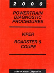 2000 Dodge Viper, Roadster and Coupe Factory Powertrain Diagnostic Procedures Manual