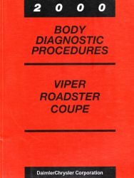 2000 Dodge Viper, Roadster and Coupe Factory Body Diagnostic Procedures Manual