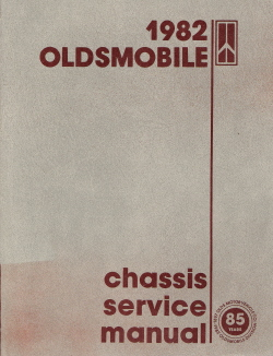 1982 Oldsmobile Chassis Service Manual with Electrical Troubleshooting Supplement