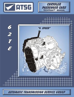 Chrysler 62TE 6-Speed Transaxle ATSG Rebuild Manual