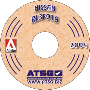 Nissan RL3FO1A Automatic Transaxle Rebuild Manual CD-ROM