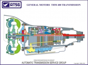 GM THM 400 18 X 24 Color Cutaway poster