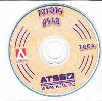 Toyota A540E Transmission Rebuild Manual on CD-ROM