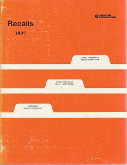 1997 Chrysler / Plymouth / Dodge / Jeep / Eagle Recalls