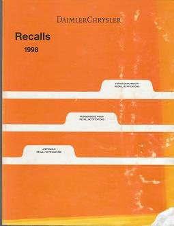 1998 Chrysler / Dodge / Plymouth / Jeep / Eagle Recalls