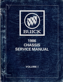 1986 Buick Chassis Service Manual (All Buick Models), 6 Volume Set