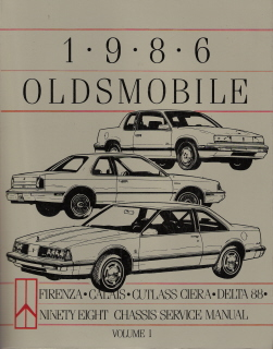 1986 Oldsmobile Chassis Service Manual & Electrical Diagnosis Supplement - 3 Volume Set