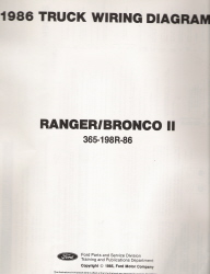 1986 Ford Ranger / Bronco II - Wiring Diagrams