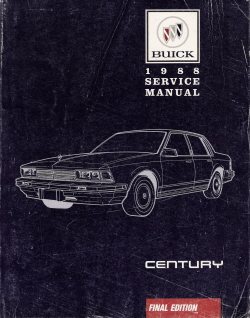 1988 Buick Century Factory Service Manual