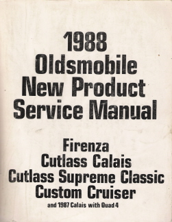 1988 Oldsmobile New Product Factory Service Manual
