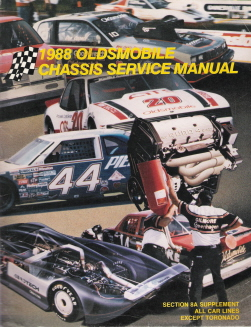 1988 Oldsmobile Chassis Service Manual Supplement for All Carlines