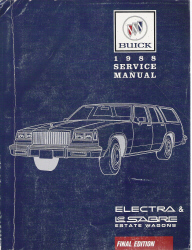 1988 Buick LeSabre and Electra Estate Wagons Factory Service Manual