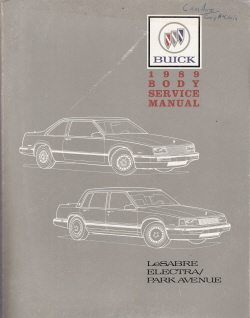 1989 Buick LeSabre, Electra & Park Avenue Body Service Manual