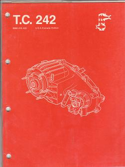 1986 Jeep Transfer Case 207 Factory Component Service Manual