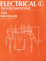 1988 Jeep Wrangler Factory Electrical Troubleshooting Manual
