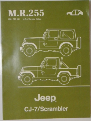 1984 - 1986 Jeep CJ7 Scrambler CJ 7 Renegade Laredo Body Repair Service Shop Manual