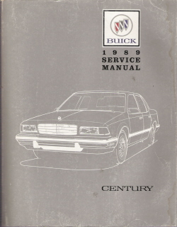 1989 Buick Century Factory Service Manual