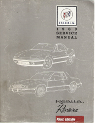 1989 Buick Reatta and Riviera Factory Service Manual