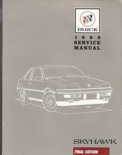 1989 Buick Skyhawk Factory Service Manual