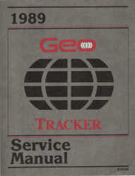1989 Geo Tracker Factory Service Manual