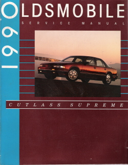 1990 Oldsmobile Cutlass Supreme Factory Service Manual with Convertible Supplement