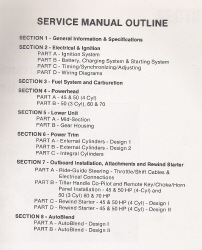 Mariner 45, 50, 60, & 70 HP Outboard Factory Service Manual