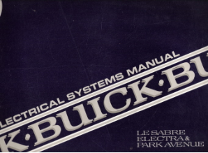 1990 Buick LeSabre, Electra & Park Avenue Electrical Systems Manual