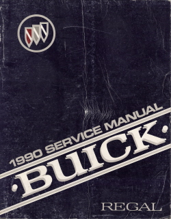 1990 Buick Regal Factory Service Manual & 1990 Buick Regal 3800 Engine Supplement Manual