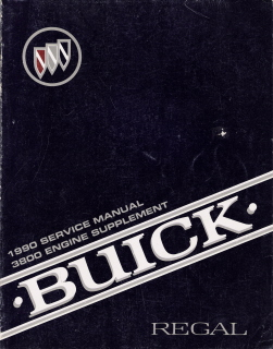 1990 Buick Regal Factory Service Manual Supplement