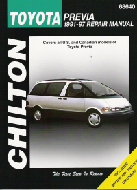 1991 - 1997 Toyota Previa, Chilton's Total Car Care Manual