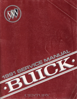 1991 Buick Century Factory Service Manual